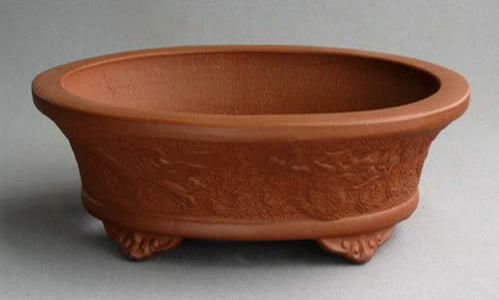 Tokoname Bonsai Pots - Red Tokoname Pot